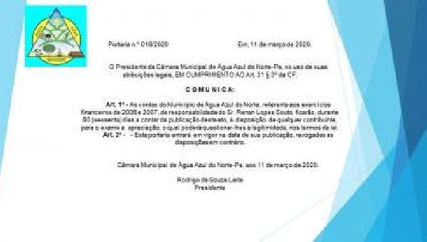 Portaria Nº 018/2020